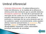 umbral diferencial
