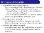 rethinking optimization