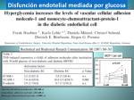 disfunci n endotelial mediada por glucosa2