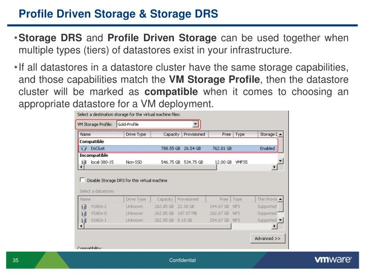 Profile Driven Storage & Storage DRS