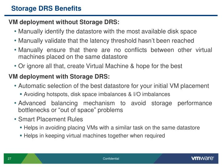 Storage DRS Benefits