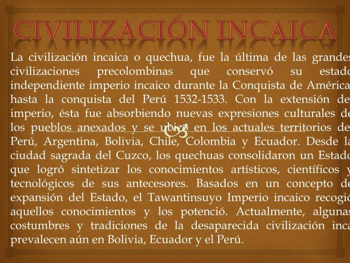 Civilización incaica