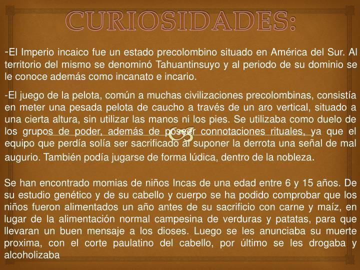 CURIOSIDADES: