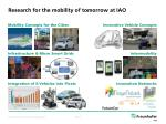 research for the mobility of tomorrow at iao