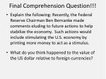 final comprehension question
