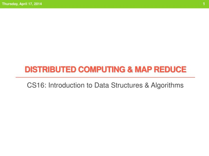 distributed computing map reduce n.