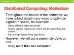 distributed computing motivation