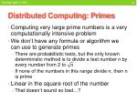 distributed computing primes