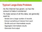 typical large data problem