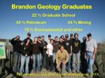 brandon geology graduates
