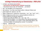 wichtige vorbemerkung zur dateistruktur pdflatex
