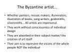 the byzantine artist