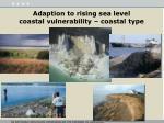 adaption to rising sea level coastal vulnerability coastal type