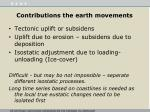 contributions the earth movements