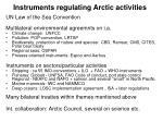 instruments regulating arctic activities