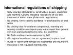 international regulations of shipping