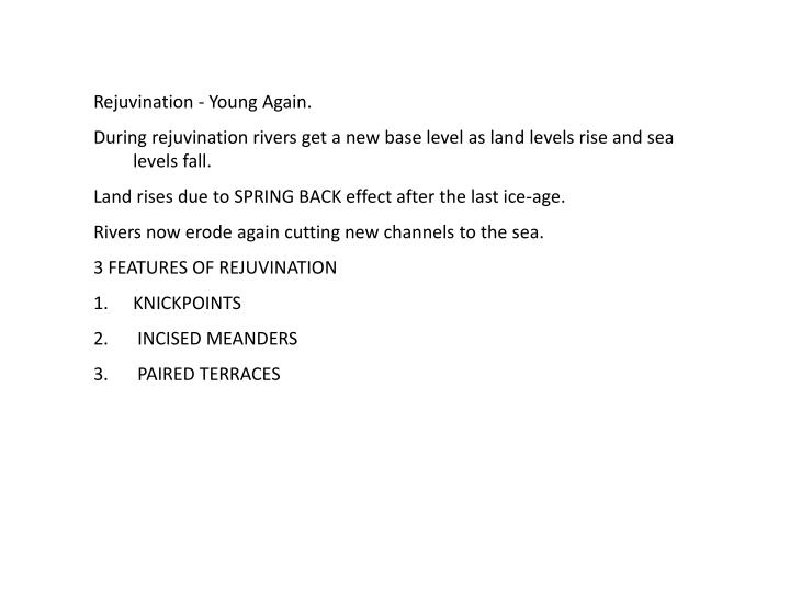 Rejuvination - Young Again.