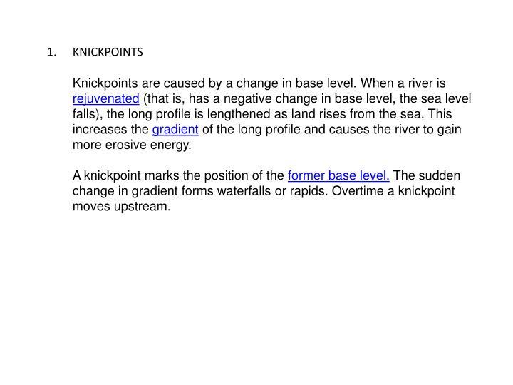 KNICKPOINTS