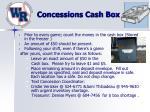 concessions cash box