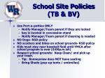 school site policies tb bv