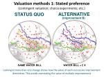 valuation methods 1 stated preference contingent valuation choice experiments etc