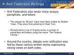 anti federalist writings
