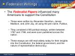 federalist writings