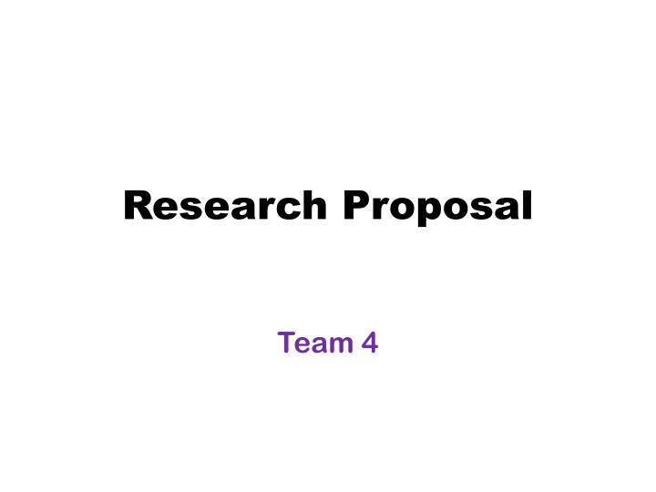 research proposal n.