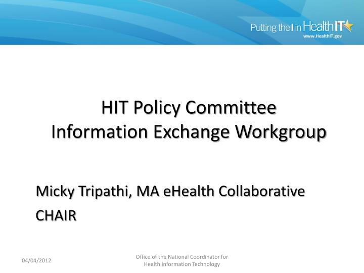information exchange wg n.
