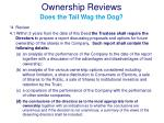 ownership reviews does the tail wag the dog2