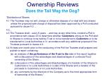 ownership reviews does the tail wag the dog4