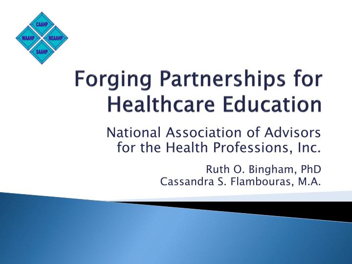 forging partnerships for healthcare education n.