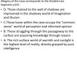 allegory of the cave corresponds to the divided line segments p141