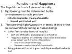 function and happiness