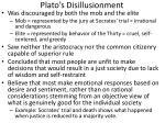 plato s disillusionment