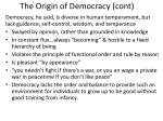 the origin of democracy cont
