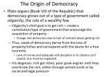 the origin of democracy