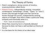 the theory of forms