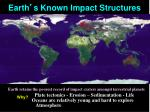 earth s known impact structures