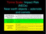 torino scale impact risk neos near earth objects asteroids and comets