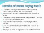 benefits of freeze drying foods