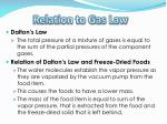 relation to gas law