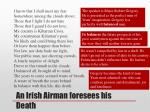 an irish airman foresees his death1