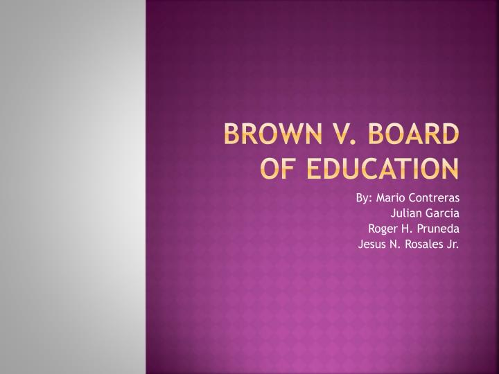 brown v board of education n.