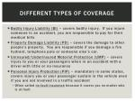 different types of coverage