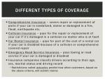 different types of coverage1
