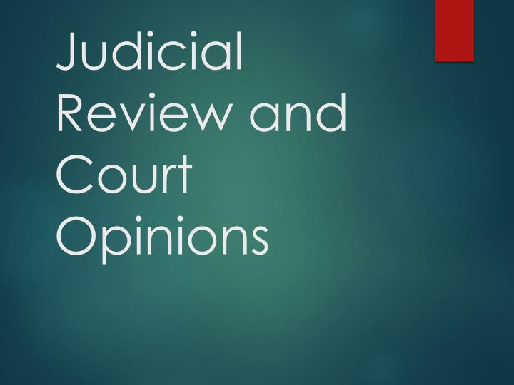 judicial review and court opinions n.