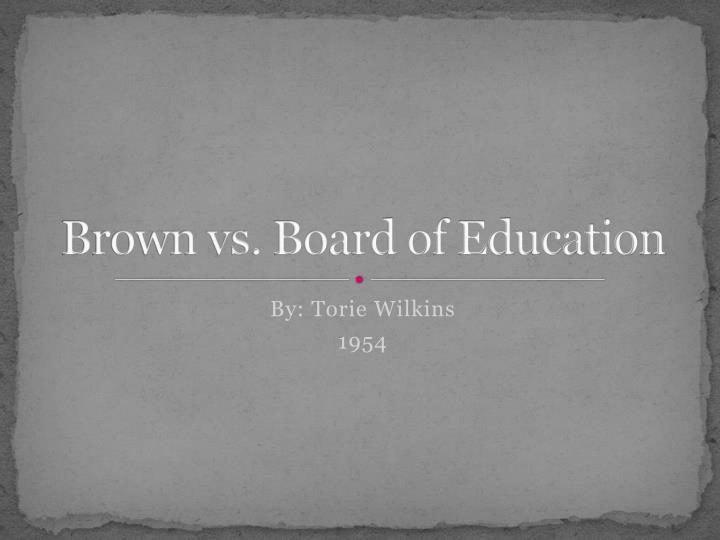 brown vs board of education n.