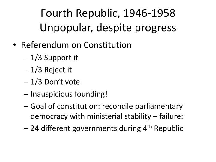 Fourth Republic, 1946-1958