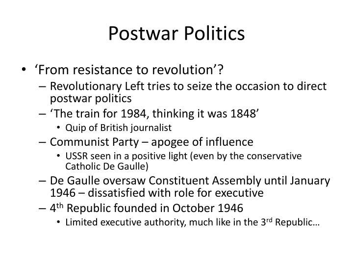 Postwar politics